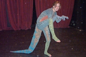 A lizard costume. Really!