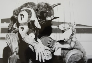 Jumping Mouse and Blind Buffalo in Mock Turtle Marionette Theatre's JUMPING MOUSE, circa 1990.