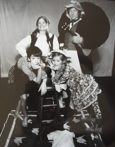Bridget, Bill, Anisa, and Sam George in ROOTABAGA STORIES, circa 1991.