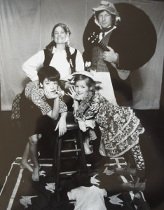 Bridget, Bill, Anisa, and Sam George in ROOTABAGA STORIES, circa 1991.