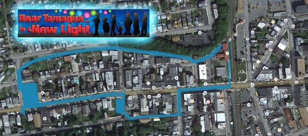 "A map of the ""Dear Tamaqua..."" performance walk"