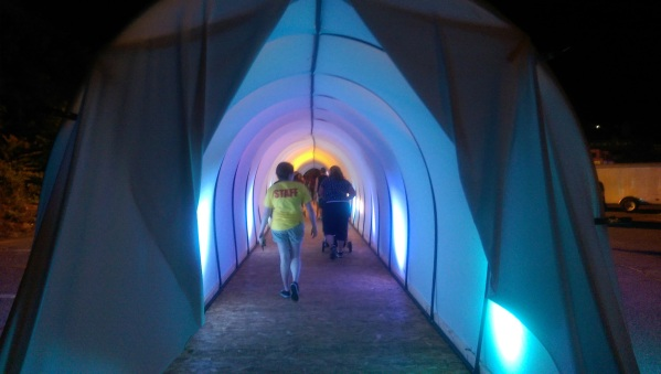 The tunnel out into the finale area